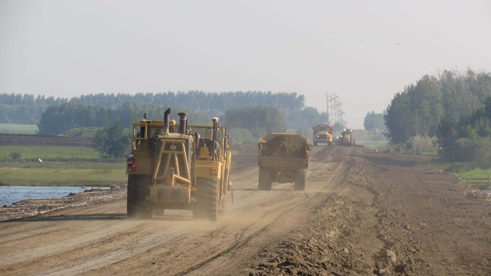 Precision Contractors | Earthworks | About | RR 62 Road Pic