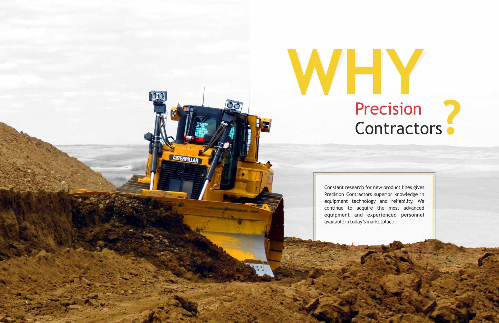 Precision Contractors | Earthworks | Home | Why-Precision-D6T-Picture