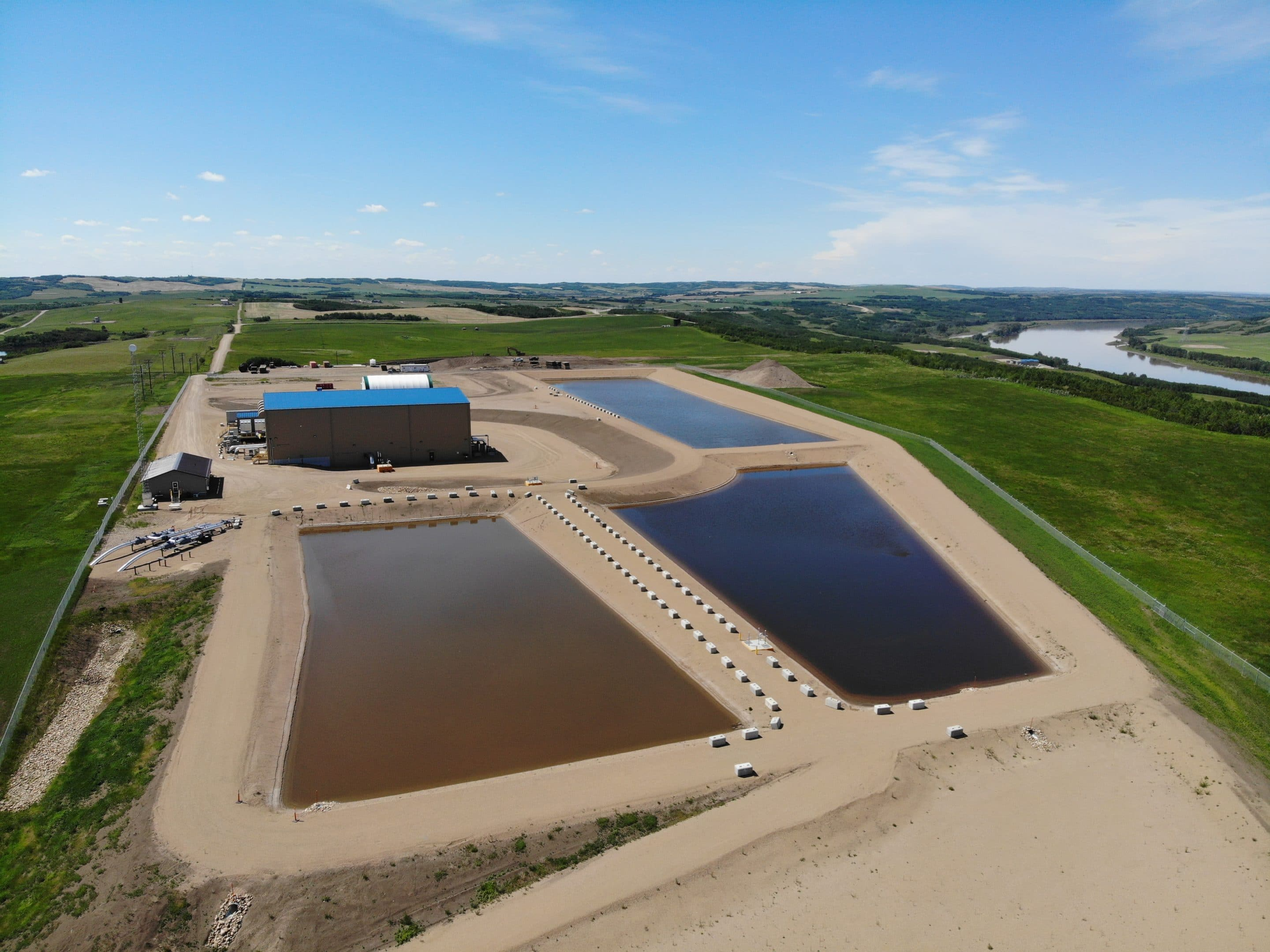 Precision Contractors | Earthworks | Husky Energy – Raw Water Intake Project | created by dji camera
