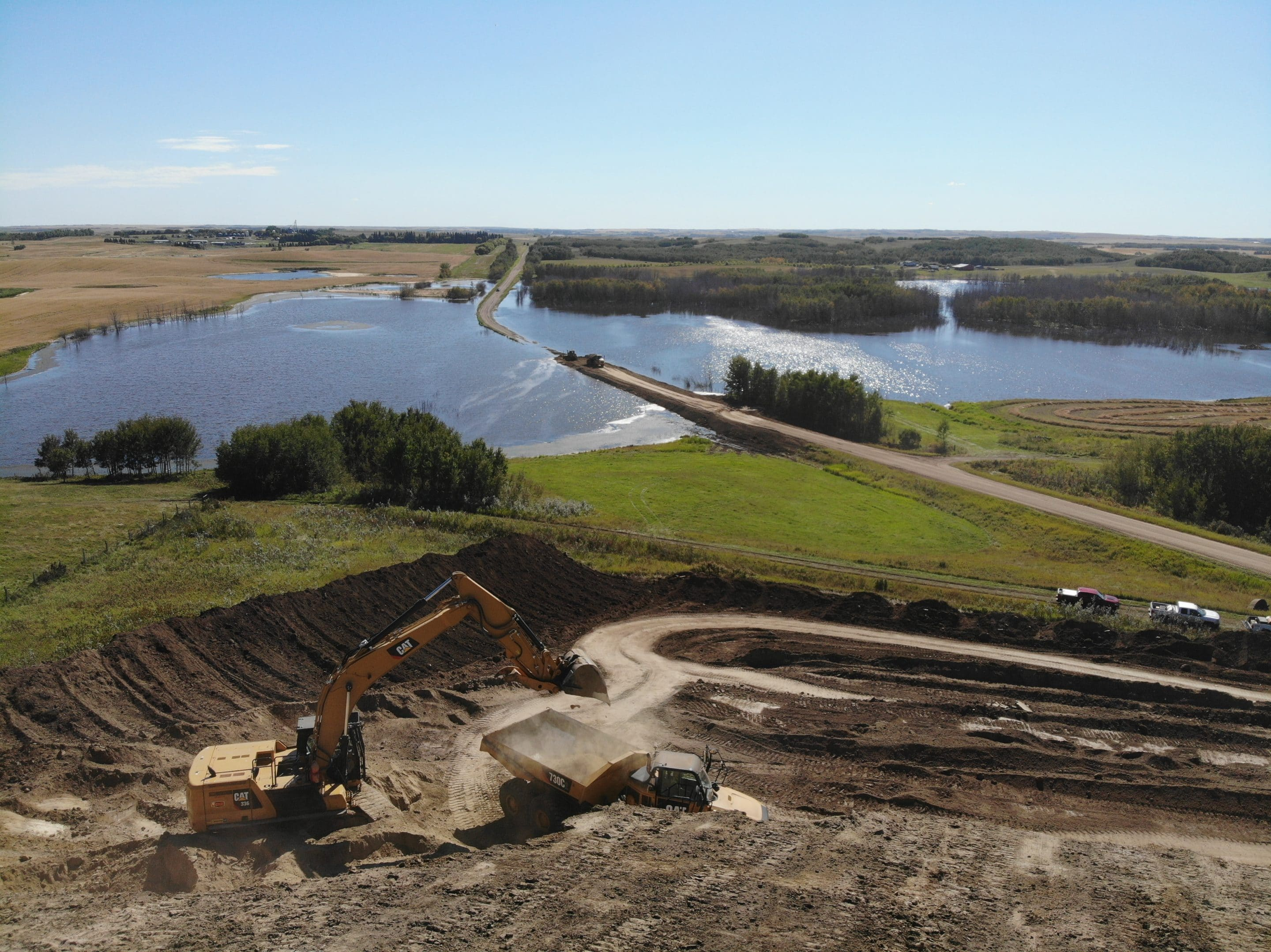 Precision Contractors | Earthworks | Services | created by dji camera